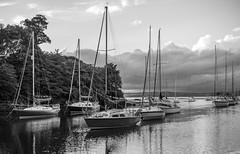 IMG_1030 (Alan Hempseed) Tags: 2016 blackandwhite boats crammond scotland water clouds seaside