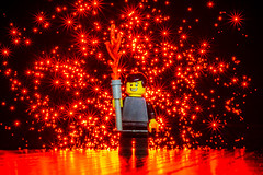Lego Light Painter (stephenk1977) Tags: australia queensland qld brisbane studio nikon d3300 fiber fibre optic light blade blading lego figure man starburst ledlenserp7qc macro painting photography art