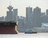 12-minute tour (Reva G) Tags: seabus boat ferry ship freighter water burrardinlet vancouver downtown skyline ocean canadaplace harbourcentre translink bc shippinglane nordsteel rusty