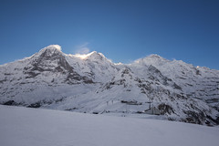Winter wind is blowing over the Eiger , the Mönch and Jungfrau mountains. No. 3432. (Izakigur) Tags: switzerland jungfrau thejungfrauregion männlichen eiger svizzera lasuisse lepetitprince thelittleprince ilpiccoloprincipe helvetia liberty izakigur flickr feel europe europa dieschweiz ch musictomyeyes nikkor nikon suiza suisse suisia schweiz suizo swiss سويسرا laventuresuisse myswitzerland landscape alps alpes alpen schwyz suïssa luz lumière light licht ضوء אור प्रकाश ライト lux światło свет ışık winter snow wind