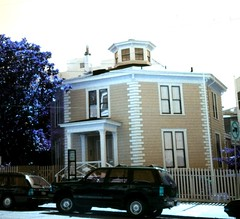 San Francisco - California -The McElroy Octagon House  AKA  Colonial Dames Octagon House, (Onasill ~ Bill Badzo) Tags: san francisco ca california architecture style octagon house mansion mcelroy aka colonial downtown blue old vintage photo onasill nrhp historic attraction site 2645 gough st 1861 restored walking tour cupola process rendered