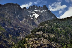 Jagged Peaked Wonder (North Cascades National Park Service Complex) (thor_mark ) Tags: azimuth213 blueskies bluesskieswithclouds boatride boatridetostehekin bonanzamassif canvas capturenx2edited cascaderange castlerock centralnorthcascades colorefexpro day4 evergreentrees evergreens ferryride hillsideoftrees ladyofthelake lakechelannationalrecreationarea landscape lookingsw mountainpeaks mountains mountainsindistance mountainsoffindistance mountainside nature nikond800e northcascades northcascadesnationalparkservicecomplex outside pacificranges partlycloudy portfolio project365 rollinghillsides snowonfaroffmountainpeaks snowcapped sunny trees triptonorthcascadesandwashington lakechelannationalrecreation washington unitedstates