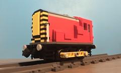 LEGO Class 08 Shunter in DB Cargo Livery (TheBricksmith) Tags: shunt engine afol track dbcargo freight train motor moc build design shunter class08 diesel lego