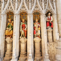 3 Kings and a Bishop (Mike.Dales) Tags: riponcathedral medieval screen statues churchofengland england northyorkshire
