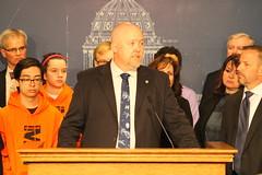 Senator Isaacson at Press Conference to Address Gun Violence
