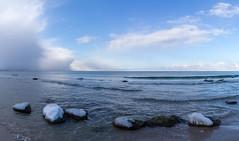 Beachlife (J. Pelz) Tags: beach landscape nature water gotland shore waves ocean clouds