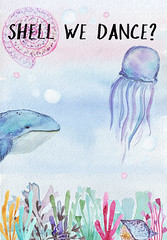 Shell We Dance? (thewritingreader) Tags: whale jellyfish shell underwater seaweed