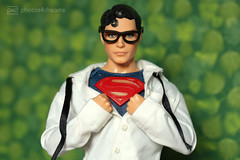 from clark kent to ... (photos4dreams) Tags: superman clarkkent smallville photos4dreams p4d photos4dreamz actionfigure actionfigur ken mattel christopherreeve ooak handpainted oneofakind dollartist design cape robe muscles kalel hero held dc comic icon iconic usa