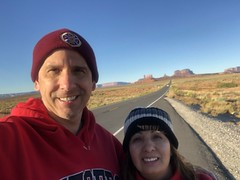 The two of us in Monument Valley (Hazboy) Tags: hazboy hazboy1 arizona utah monument valley southwest west western us usa america october 2017 selfie