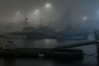Misty night (Rind Photo) Tags: mist fog harbour night boats ramps frederikshavn floating rindphoto clauschristoffersen atmosphere nikkor