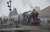 King in a Blizzard (davids pix) Tags: gwr 6023 king edward ii kidderminster station preserved steam locomotive passenger train snow blizzard 2018 17032018