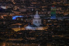 Le Panthéon (karinavera) Tags: city longexposure night photography cityscape urban ilcea7m2 france aerial paris view lepanthéon