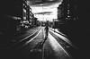monday mornings (matthias hämmerly) Tags: switzerland candid street streetphotography shadow contrast grain ricoh gr black white bw monochrom monochrome city town urban blackandwhite strasse people monochromphotography dark zürich zuerich rain lonely cold winter swiss einfarbig linien gebäudeoerlikon morning bicycle