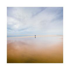 Je marche seul. (Mathieu.L) Tags: plage beach sky sea sable sand bassin arcachon marcheur walker petitnice alone seul