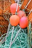 Fishing Gear (Karen_Chappell) Tags: green orange fish fishing newfoundland nfld net ropes line buoy float plastic metal stjohns canada atlanticcanada colourful nets avalonpeninsula colours colour color multicoloured buoyant