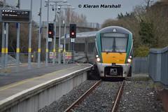 22023 arrives at Newbridge, 26/3/18 (hurricanemk1c) Tags: railways railway train trains irish rail irishrail iarnród éireann iarnródéireann 2018 22000 rotem icr rok 4pce 22023 1435heustonnewbridge newbridge