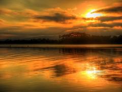 Estuary sunset II (elphweb) Tags: sun sunset hdr highdynamicrange nsw australia seaside