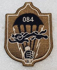Mongolia 084th Special Task Battalion (subdued) (Sin_15) Tags: mongolian mongolia badge insignia army hat beret cap military ground forces land airborne battalion patch armed force paratrooper special airforce