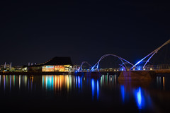 Tempe Center for the Arts (Ascott4680) Tags: long exposure tempe town lake water night bridge arts arizona foot le