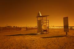 Port Stanley Beach Life Guard Station (Ontario, Canada) (Kᵉⁿ Lᵃⁿᵉ) Tags: can canada geo:lat=4265871168 geo:lon=8121595457 geotagged grimmondsbeach ontario portstanley 28300 28300mm art beach beachlifeguardstation color depthoffield dof eerie haze horizon lake lakeerie landmark lifeguard lifeguardstation marsenvironment monochrome nature nikkor nikkor28300 nikon nikond800 ontariocanada orange photoshop photoshoplensblur portstanleybeach portstanleybeachlifeguardstation portstanleyontario portstanleyontariocanada portstanleypier red sand sign signage sky theportstanleypier tourism touristattraction travelblog traveldestination travelphotography water