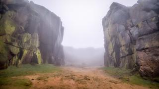 Through the mist...