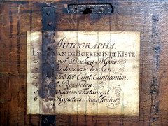 [Old Chest] (pienw) Tags: chest statesbible letters abandoned museumcatharijneconvent