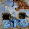Pastel Ziko ... sol y sombra (gerrygoal2008) Tags: sol sombra light lumiere ombre fenetre window windows buiding graffiti blue wall mur building street bricks briques pastel woad vouede guede waizda walde wedde teinte tint