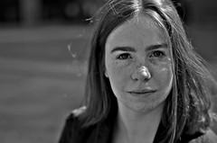 Pina (l_rebekka) Tags: portrait face gesicht blacknwhite schwarzweis freckles sommersprossen summer sommer köln cologne
