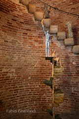 SCULPTURES IN THE TOWER (fabiogis50) Tags: pietrasanta belltower bricks sculpture scultura scale