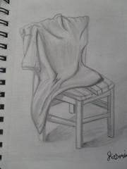 Lesson 49. T- Shirt n Chair! (21PixelArts) Tags: chair white tshirt pincle drawing