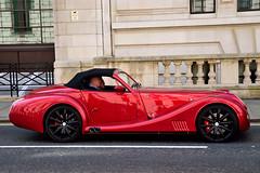 Morgan Aero 8 (Geoff Henson) Tags: car morgan roadster sports london traffic red road building driver 1500v60f