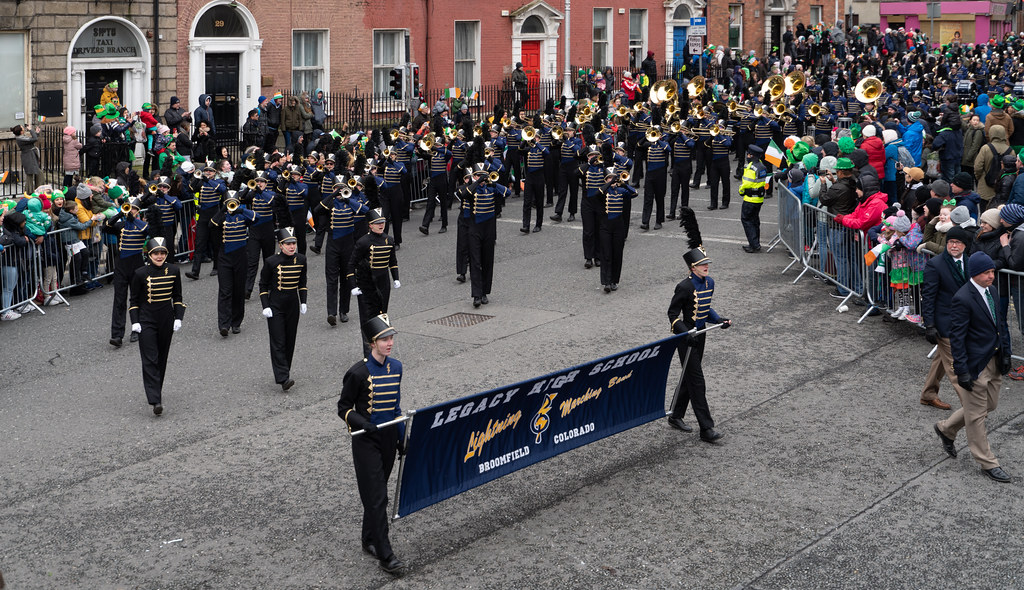 Legacy High School Lightning Marching Band [St. Patricks Day Parade 2018 In Dublin]-137528
