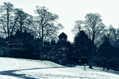 The Chapel in the snow (littlestschnauzer) Tags: ysp winter minibeast uk east snowy cold scene chapel white wintry march mid yorkshire sculpture park outdoors 2018 weather