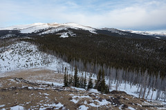 Loaf From Sheep (kevin-palmer) Tags: bighornmountains bighornnationalforest wyoming march spring winter snow snowy cold morning clouds pinestrees loafmountain burnt sheepmountain nikond750 tamron2470mmf28