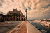 (138/18) Ayuntamiento de Ciudadela (Pablo Arias) Tags: pabloarias photoshop photomatix capturenxd españa cielo nubes arquitectura edificio ayuntameirntomagua mar mediterráneo ciudadela menorca carretera