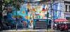 2018 - Mexico City - Roma Norte - Calle de Durango & Merida (Ted's photos - For Me & You) Tags: 2018 cdmx cityofmexico cropped mexico mexicocity nikon nikond750 nikonfx tedmcgrath tedsphotos tedsphotosmexico vignetting mural wallmural callededurango callemerida streetscene street umbrella red redrule suzuki curb greenlight streetlight streetvendor bobo people peopleandpaths shadow shadows