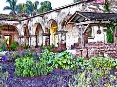 San Juan Capistrano Mission (John Shedrick) Tags: dynamicautopainter art painting digital paintingfromphoto