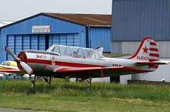 Yakovlev Yak-52 ~ RAK-1474 / 124 (Aero.passion DBC-1) Tags: spotting lognes 2005 dbc1 david biscove aeropassion avion aircraft aviation plane yakovlev yak52 ~ rak1474