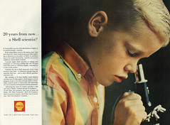 1964 Ad, Shell Gas Company, Boy & Microscope (2 pages) (classic_film) Tags: 1964 sixties 1960s shell gas boy kid child magazine advertising advertisement advert alt american america añejo ad anuncio anzeige ads retro revista vintage reklame época ephemeral classic clásico werbung commercialism consumerism old nostalgia nostalgic color