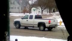 White pickup truck - HTT 365/143 (Maenette1) Tags: white pickuptruck snow neighborhood menominee uppermichigan happytruckthursday flicker365 michiganfavorites project365