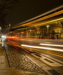 Ludwigsburg bei Nacht (jomobil) Tags: nacht night urbanarea reflection metropolitanarea landmark track langzeitbelichtung light ludwigsburg badenwürttemberg deutschland de