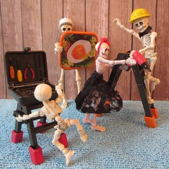Good friends and good tools come in handy. (jefalump) Tags: poseskeleton rement skeleton ladder tool set atsh handtools flickrfriday