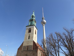 Marien Kirche & Fernsehturm Berlin (thomaslion1208) Tags: berlin fernsehturm