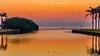 Equinox Sunrise, flock of Ibises and 2 Manatees (The Happy Traveller) Tags: equinox sunrise deeringestate miamidade miami