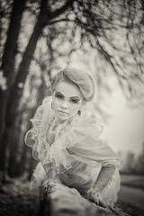 Bride not bride (AdisX | Andrius Maciunas) Tags: helios helios44 helios442 58mm f2 bokeh old lens manual m42 canon portrait woman girl strange bw dark mystic bold bokehlicious