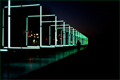 Into the Dark (devos.ch312) Tags: lightfestival square squares light artificiallight green lightreflections silhouette perspective tunneloflight sony a7rii a7rm2 ilce7rm2 fe35mmf28 zeiss negativespace christinedevos