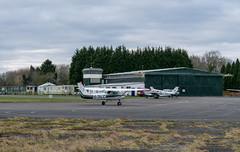 Trusty warrior (d0mokun) Tags: needwood england unitedkingdom gb tatenhill aviation aerodrome airfield aeroplanes aircraft airplanes cessna ga bellman hangar c152