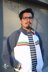 Adrian (Levi Smith Photography) Tags: italian italiano jacket tshirt man men middle eastern tan handsome beard goatee moustache mustache glasses pose shadow san francisco portrait mens
