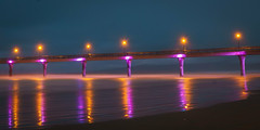 New Brighton Pier on a mist night (Sandy Brinsdon (theafterworkphotographer)) Tags: lights night longexposure flickr newbrighton