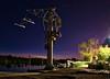 Waiting to work (toniant67) Tags: grua longexposure longexpo horaazul night nightphotography nightscapes